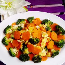 西兰花烩胡萝卜