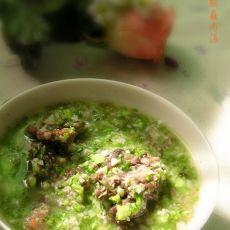 西兰花鸡腿菇牛肉汤的做法