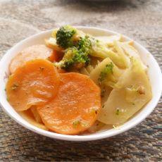 胡萝卜土豆炒西兰花