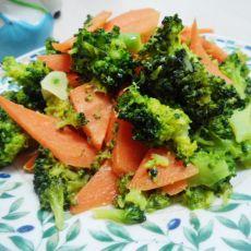 胡萝卜炒西兰花的做法步骤
