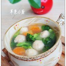 西兰花鸡丸汤