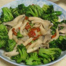 西兰花菌菇枸杞的做法