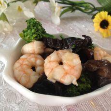 蚝油虾仁西兰花