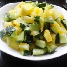 凉拌菠萝土豆丁