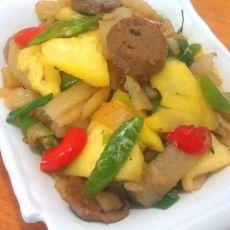 菠萝炒米皮