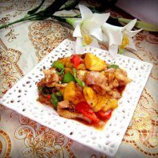 香炒菠萝猪颈肉