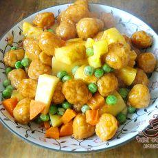 茄汁菠萝鸡丸