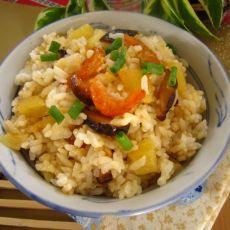 虾米菠萝炒饭的做法