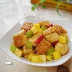 菠萝笋烩豆腐
