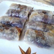 紫薯香蕉芝麻酱春卷