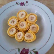 香蕉鸡蛋卷