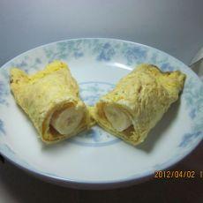 鸡蛋饼卷香蕉
