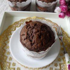 巧克力香蕉麦芬蛋糕