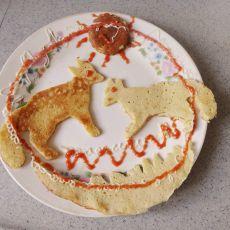 香蕉牛奶饼的做法