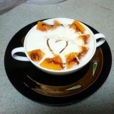 爱心牛奶蒸木瓜的做法