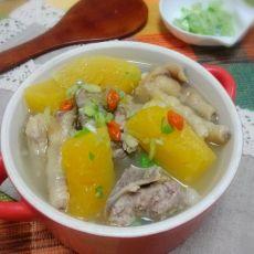 木瓜鸡脚排骨汤的做法