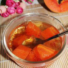 桃胶炖木瓜