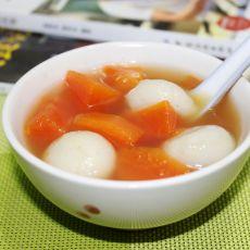 汤圆木瓜糖水