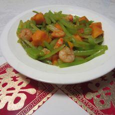 芹菜虾仁木瓜