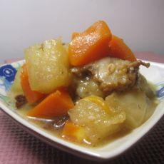 蒜香双瓜炖牛肉的做法