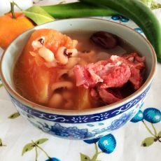 木瓜眉豆排骨汤的做法