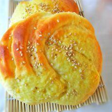 香橙卷花面包