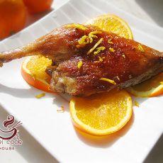 橙香烤鸭腿