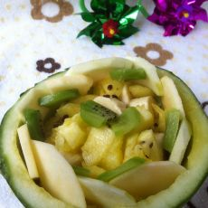 西瓜果盘的做法