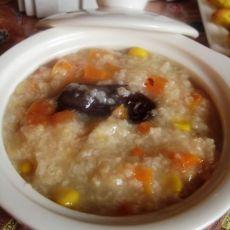 胡萝卜玉米大枣粥
