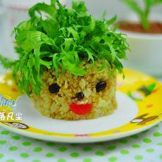 长草娃娃黑糙米饭