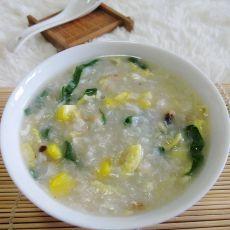 杂菜鱼蓉粥的做法