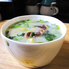 鸭肾西洋菜粥的做法