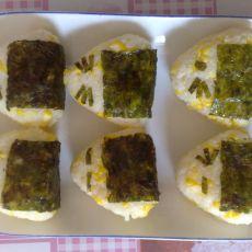 玉米海苔饭团
