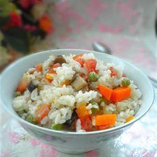 香菇腊肠饭