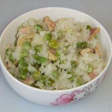 豌豆咸肉糯米饭