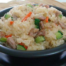 肉丁炒糯米饭―家庭美食