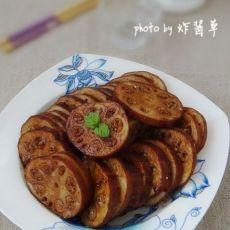 卤制桔香糯米藕