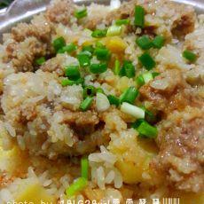 土豆糯米蒸排骨