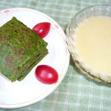 营养早餐之米糊加蔬菜饼