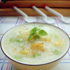 虾皮毛豆白果粥