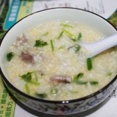 瘦肉二米粥