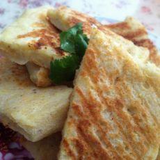 小米黄豆豆渣饼的做法