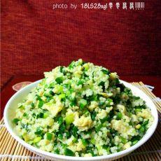韭菜小米炒鸡蛋