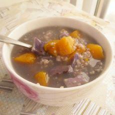 紫薯金瓜粥的做法
