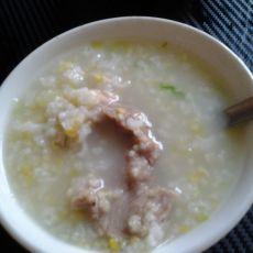 猪骨头小米粥的做法