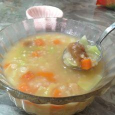 蔬菜月饼粥