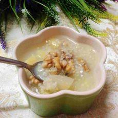 小米核桃水果粥
