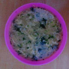 菠菜小米蛋花粥