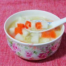 小米胡萝卜芋头山药粥