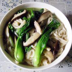 鲜香菇油菜挂面汤